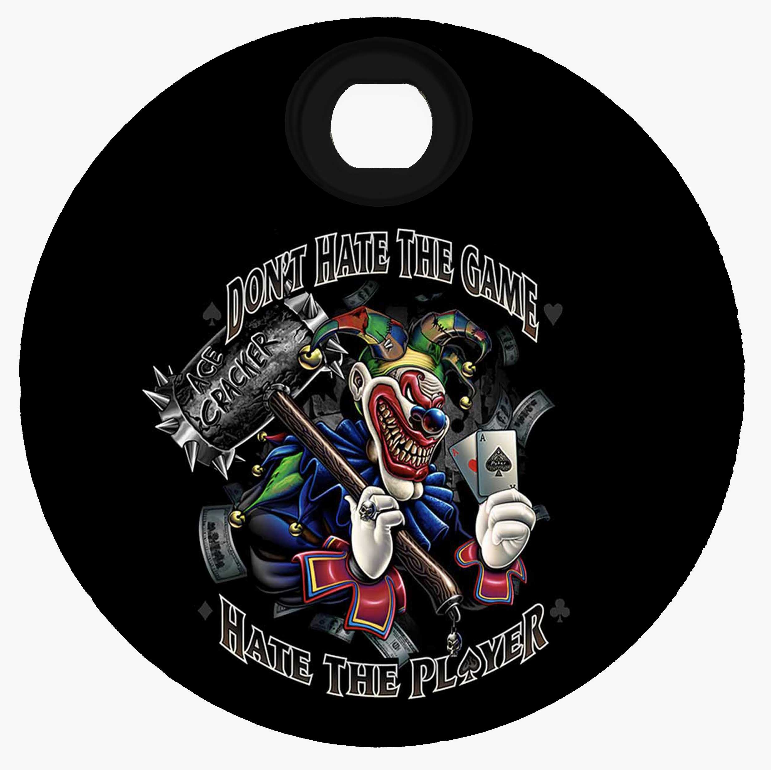 "Custom - Harley Davidson Fuel Door - Clown ""Don't Hate the Game"""