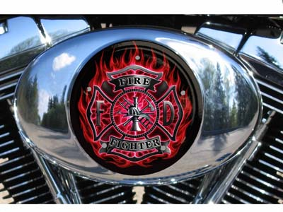 Harley Air Cleaner Cover - Firefighter