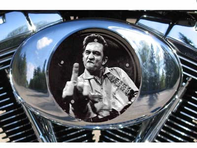 Harley Air Cleaner Cover - Johnny Cash