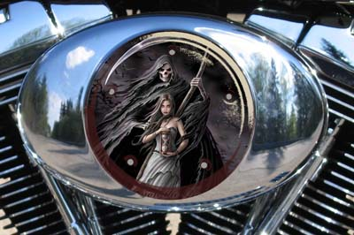 Harley Air Cleaner Cover - Reaper Hourglass