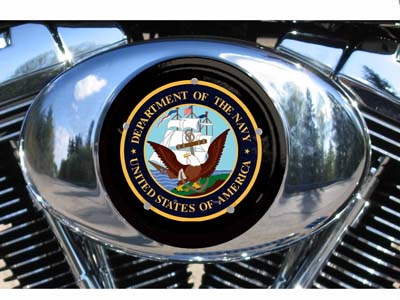 Harley Air Cleaner Cover - Navy
